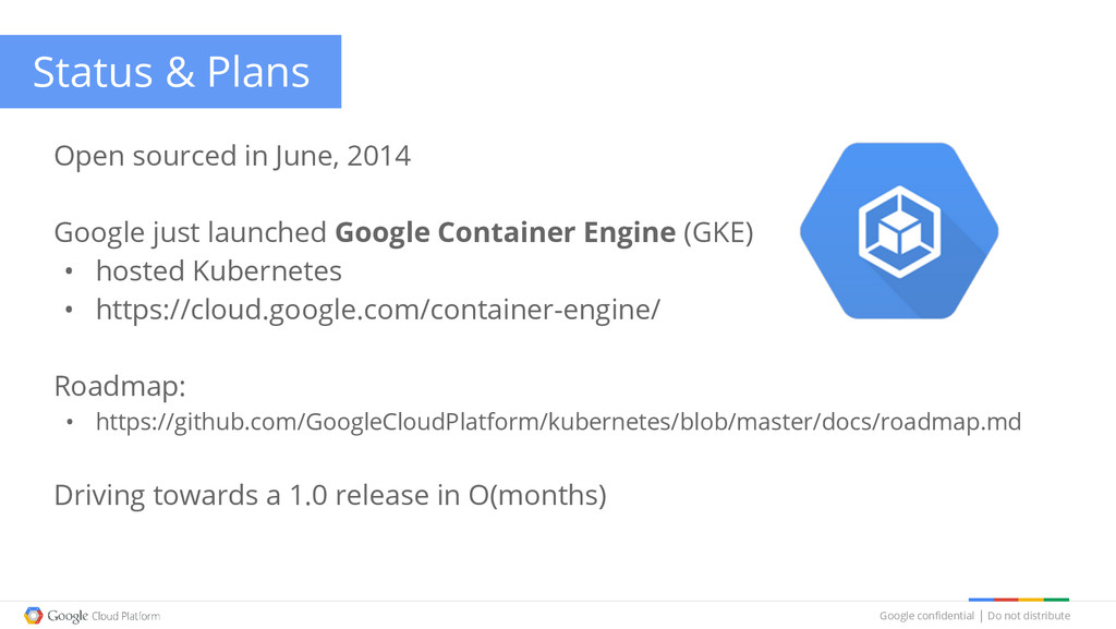 Google confidential │ Do not distribute Status ...
