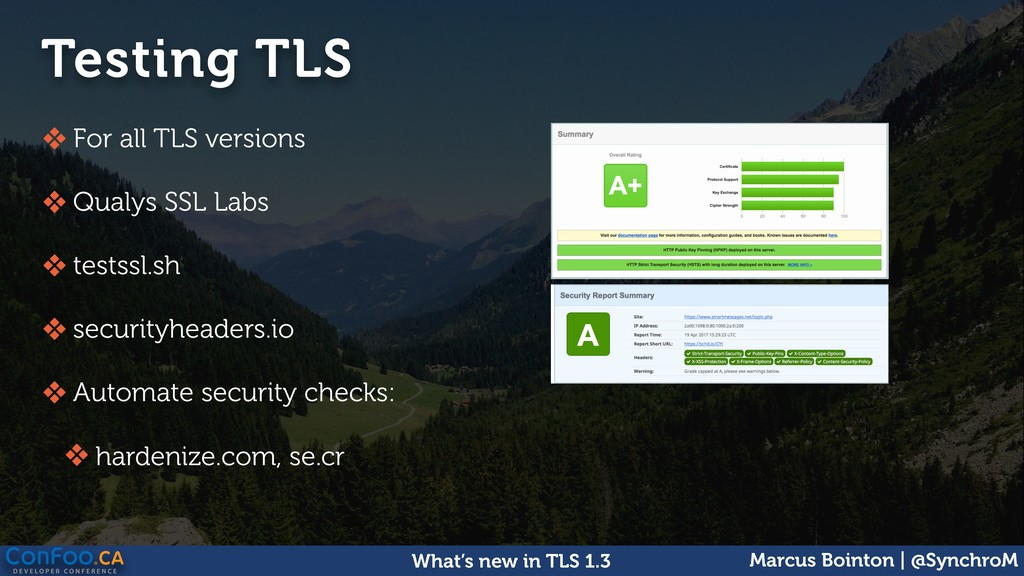 Marcus Bointon | @SynchroM What's new in TLS 1....