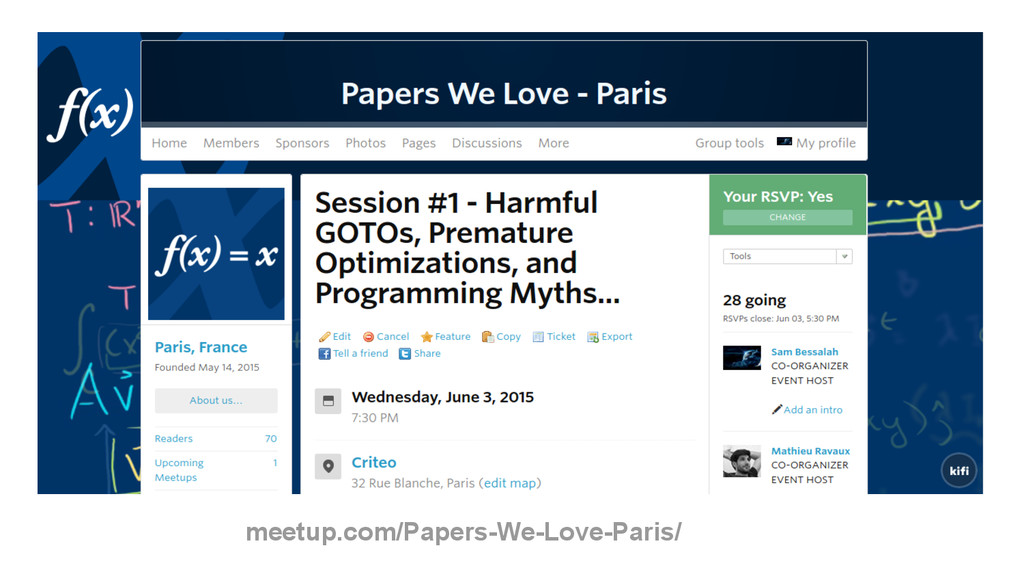 meetup.com/Papers-We-Love-Paris/