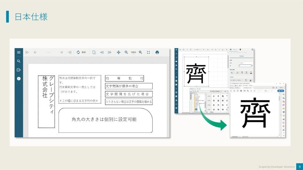 日本仕様 9 GrapeCity Developer Solutions