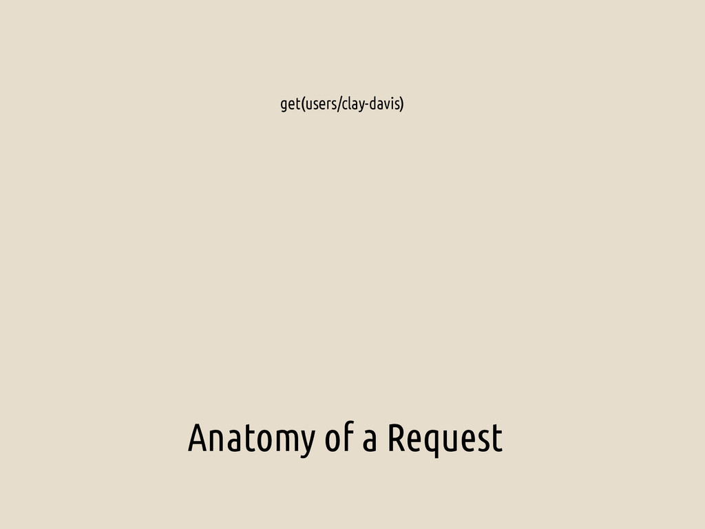 Anatomy of a Request get(users/clay-davis)