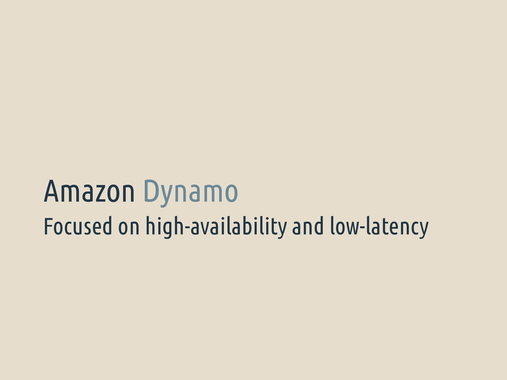 Focused on high-availability and low-latency Am...