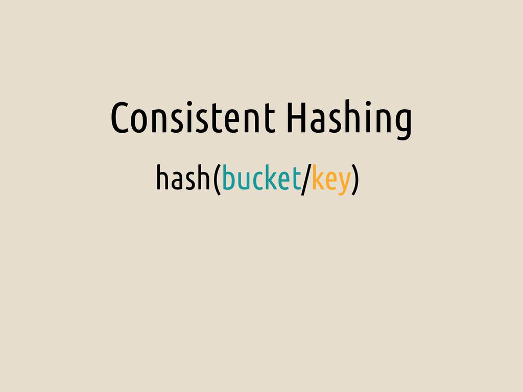 Consistent Hashing hash(bucket/key)