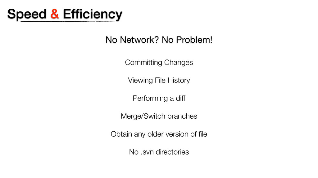 No Network? No Problem! Committing Changes View...