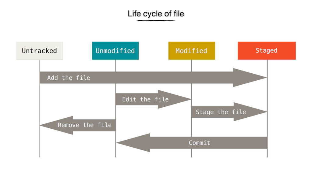 Life cycle of file