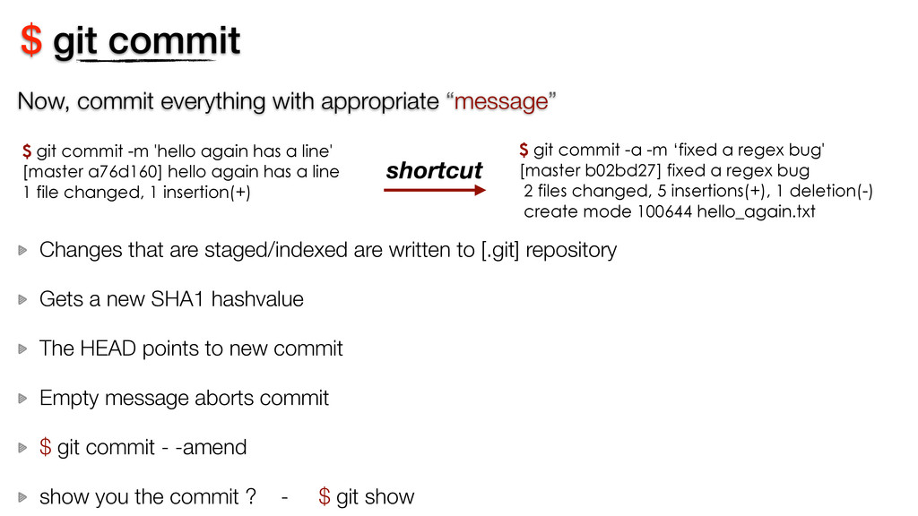 """Now, commit everything with appropriate """"messag..."""