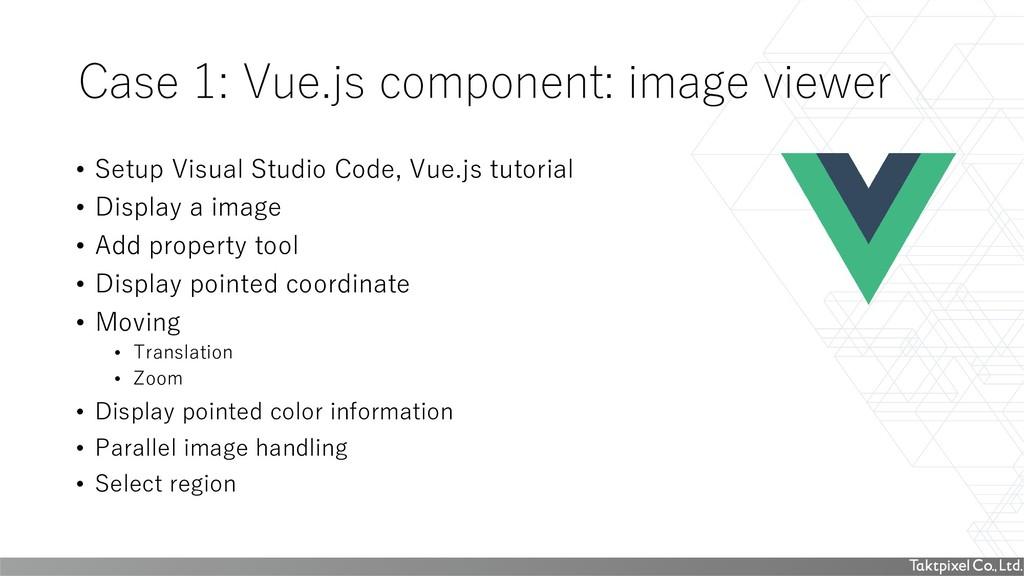 Case 1: Vue.js component: image viewer • Setup ...