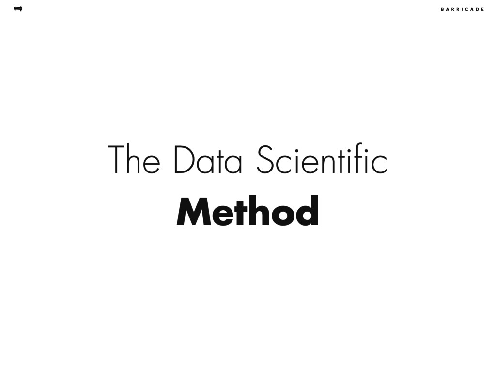 The Data Scientific Method