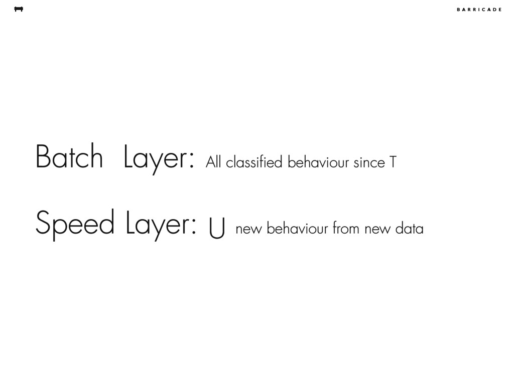 Speed Layer: U new behaviour from new data Batc...