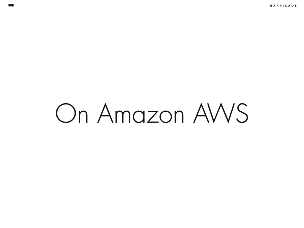 On Amazon AWS