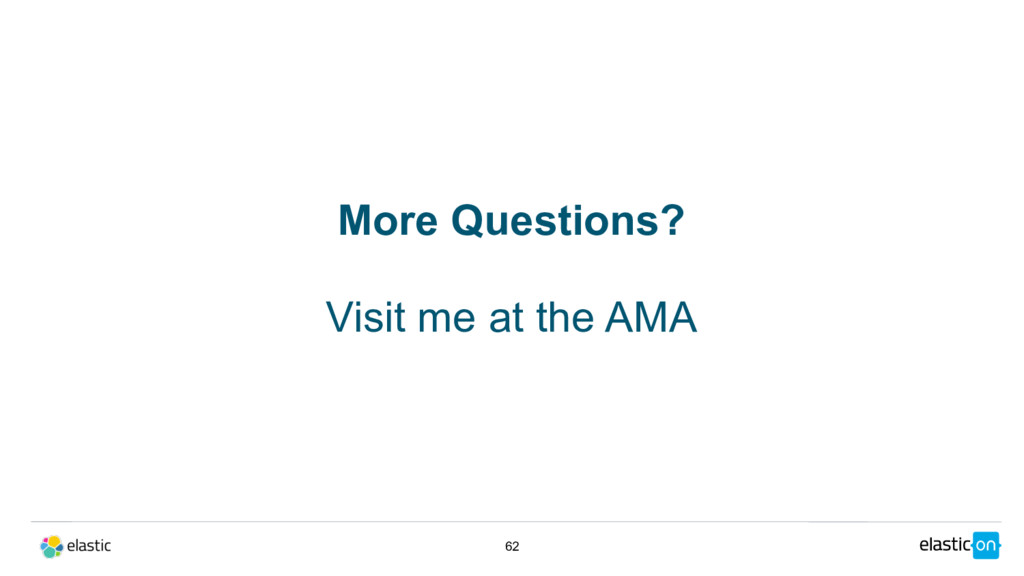 62 More Questions? Visit me at the AMA