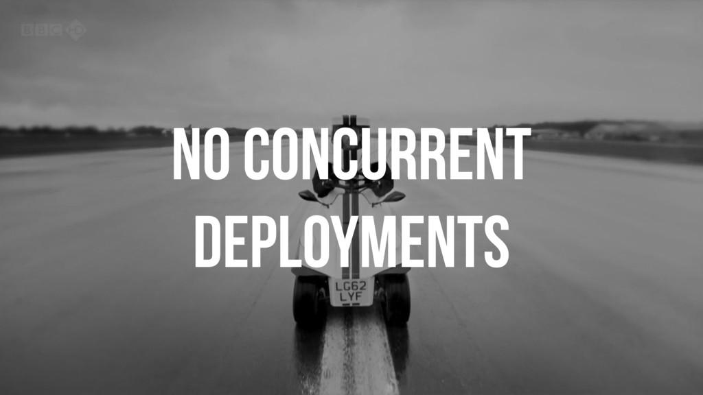NO CONCURRENT DEPLOYMENTS