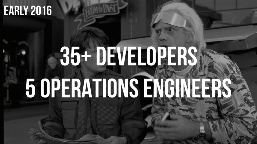 35+ DEVELOPERS 5 OPERATIONS ENGINEERS EARLY 2016