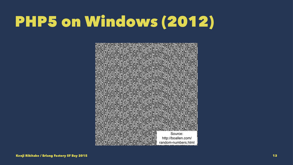 PHP5 on Windows (2012) Kenji Rikitake / Erlang ...