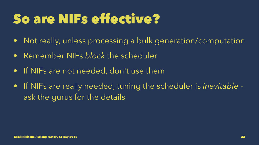 So are NIFs effective? • Not really, unless pro...