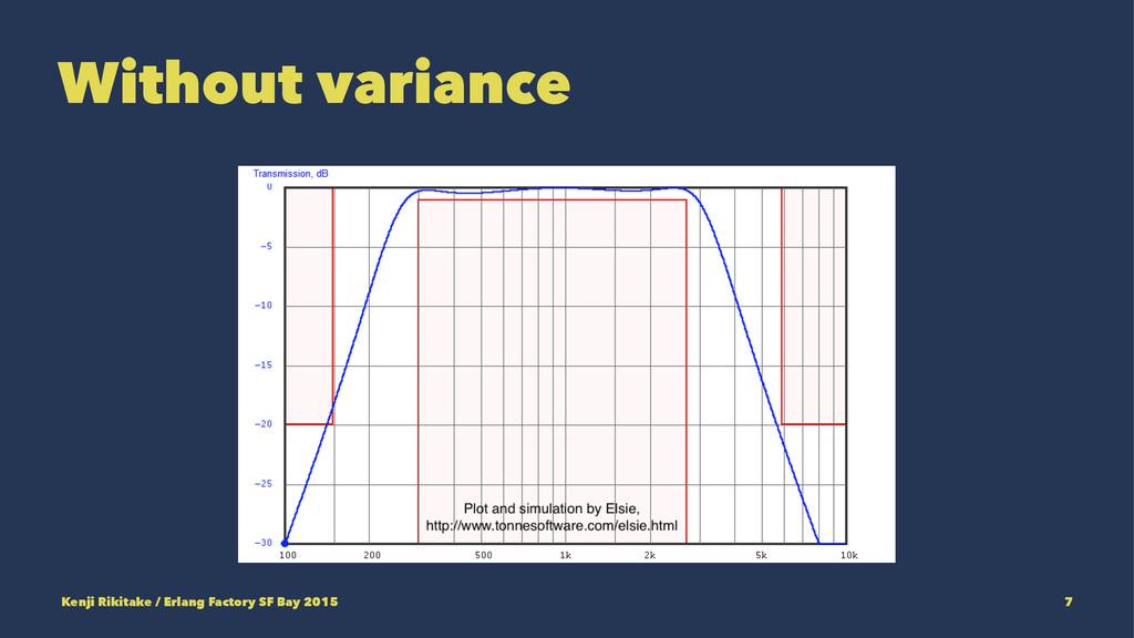 Without variance Kenji Rikitake / Erlang Factor...