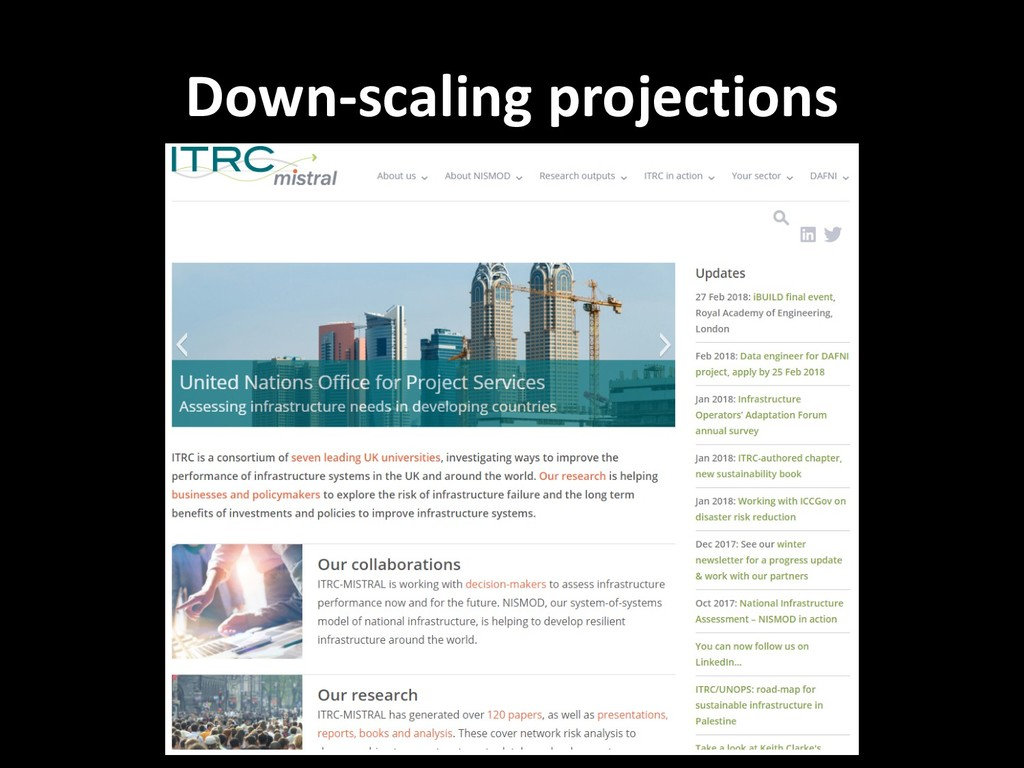 Down-scaling projections