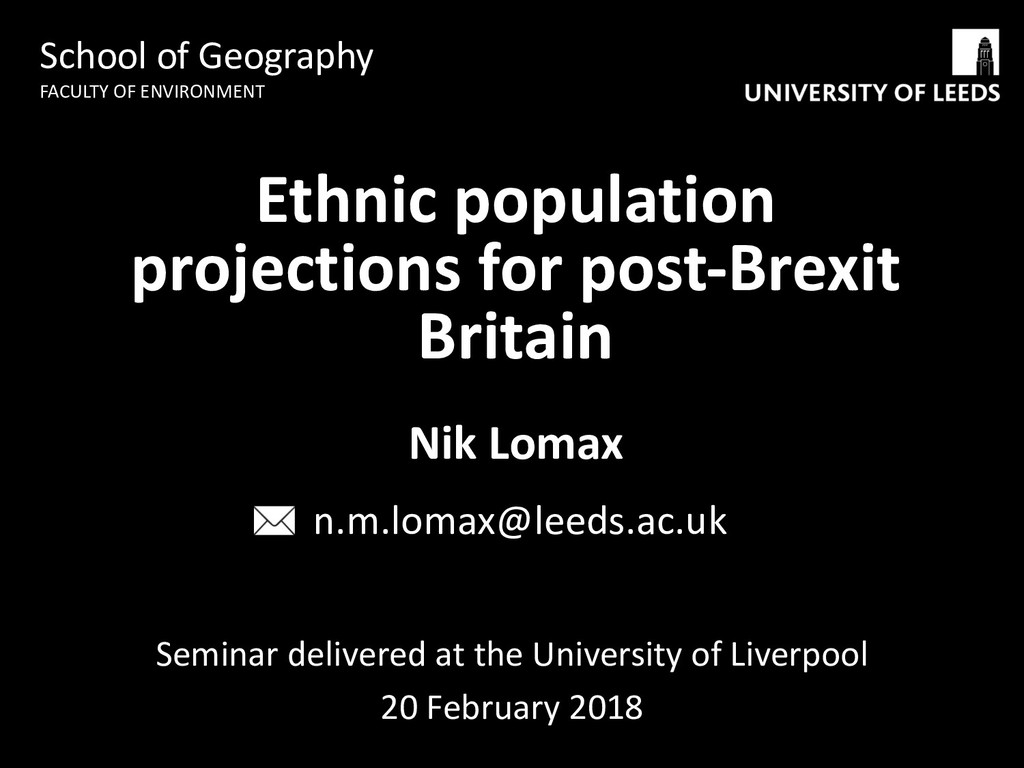 Seminar delivered at the University of Liverpoo...