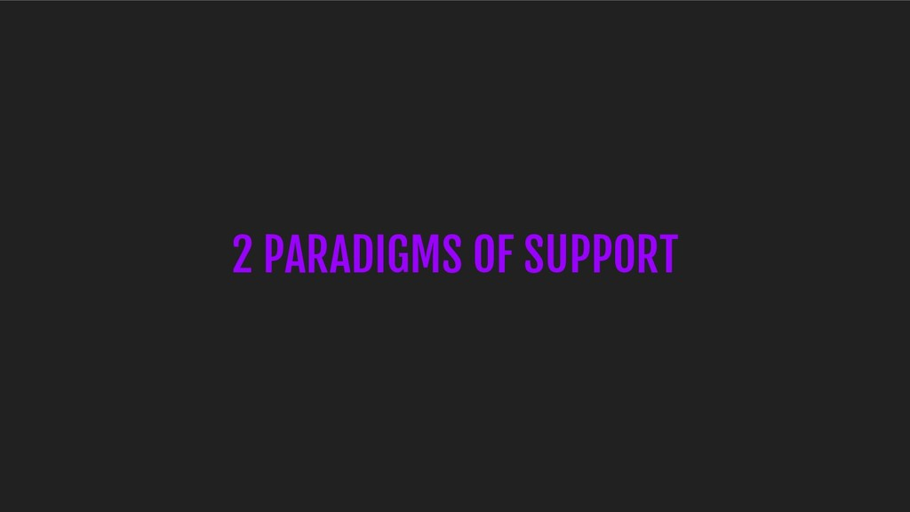 2 PARADIGMS OF SUPPORT