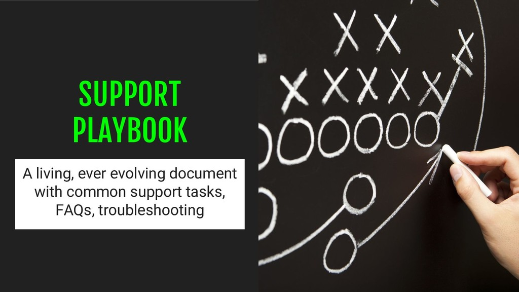 SUPPORT PLAYBOOK A living, ever evolving docume...