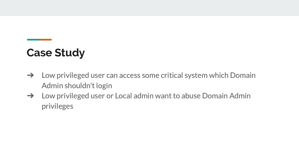 Case Study ➔ Low privileged user can access som...