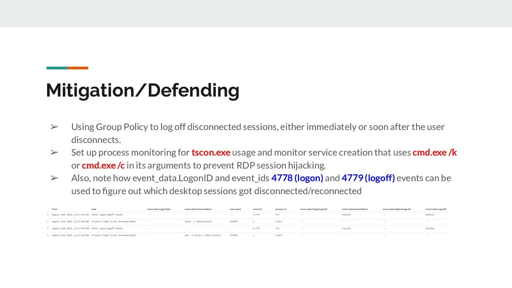 Mitigation/Defending ➢ Using Group Policy to lo...