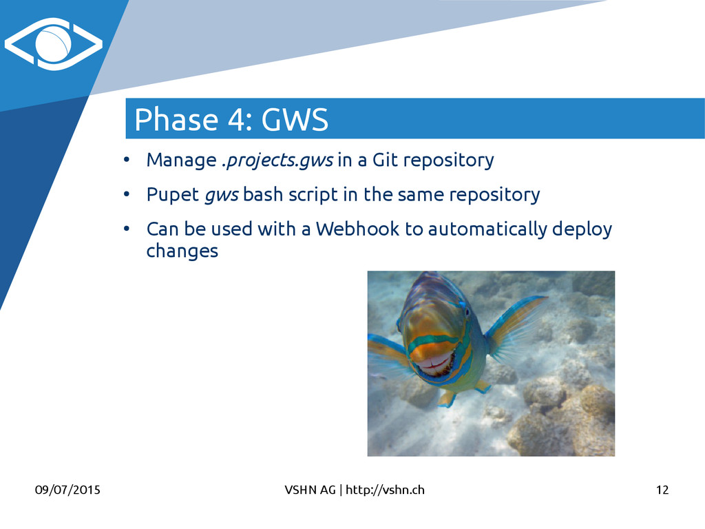 09/07/2015 VSHN AG   http://vshn.ch 12 Phase 4:...