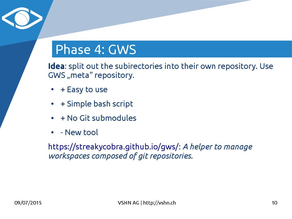 09/07/2015 VSHN AG   http://vshn.ch 10 Phase 4:...