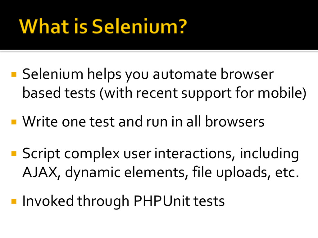 ¡ Selenium helps you automate browser  ba...