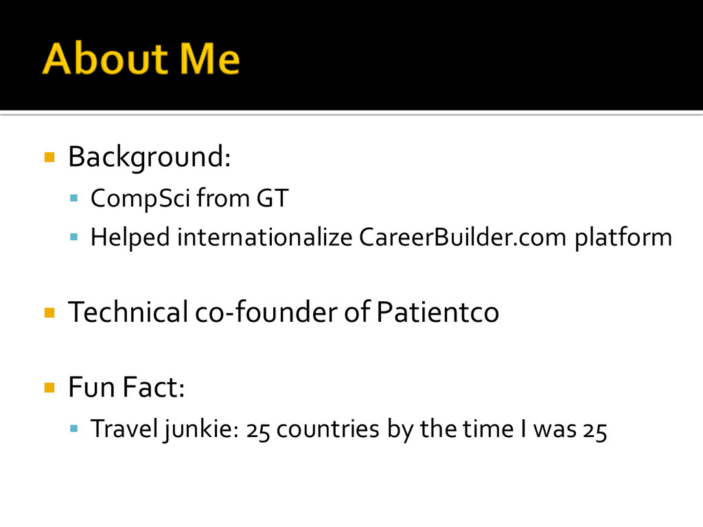 ¡ Background: § CompSci from GT § Helped i...