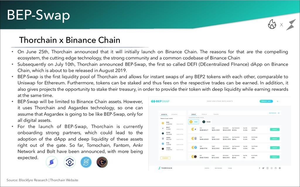 BEP-Swap Thorchain x Binance Chain • On June 25...