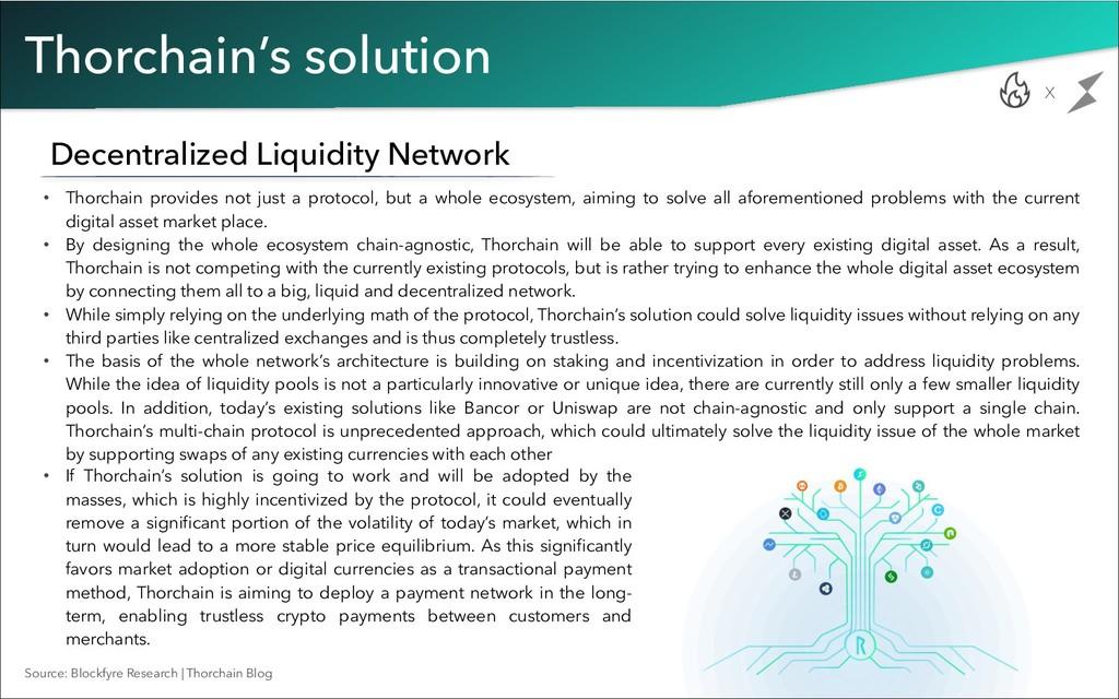 Thorchain's solution Decentralized Liquidity Ne...