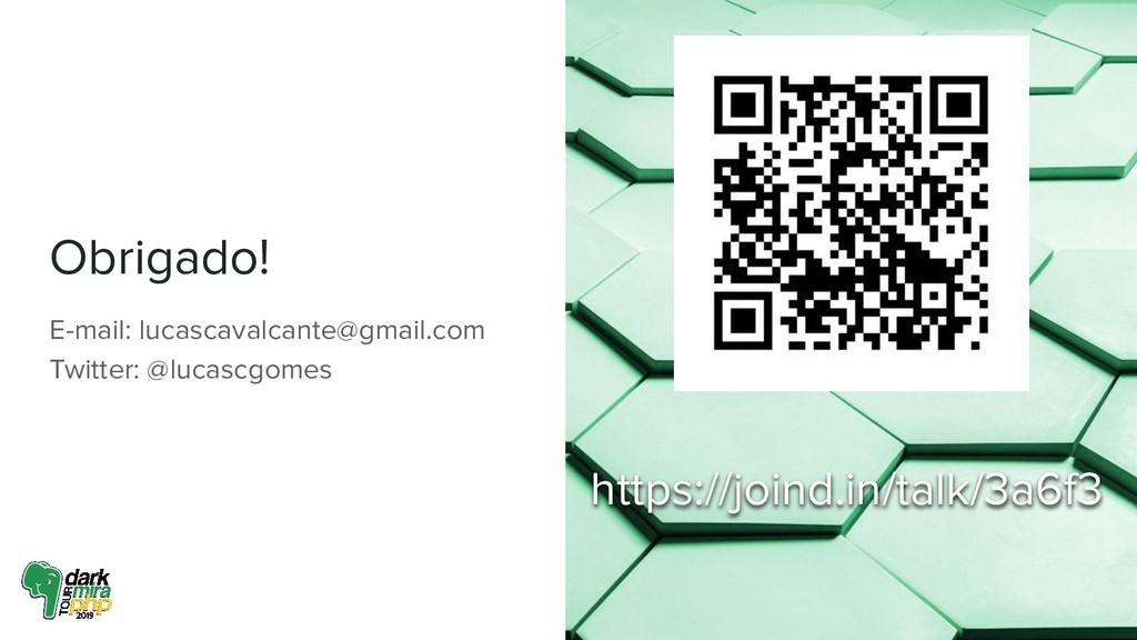 Obrigado! E-mail: lucascavalcante@gmail.com Twi...