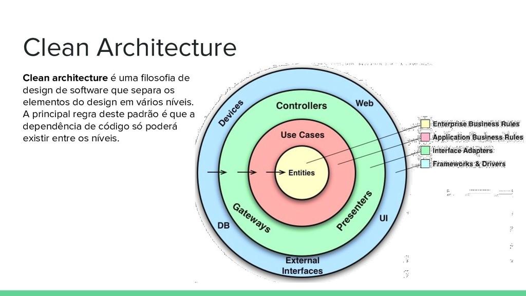 Clean Architecture Clean architecture é uma filo...