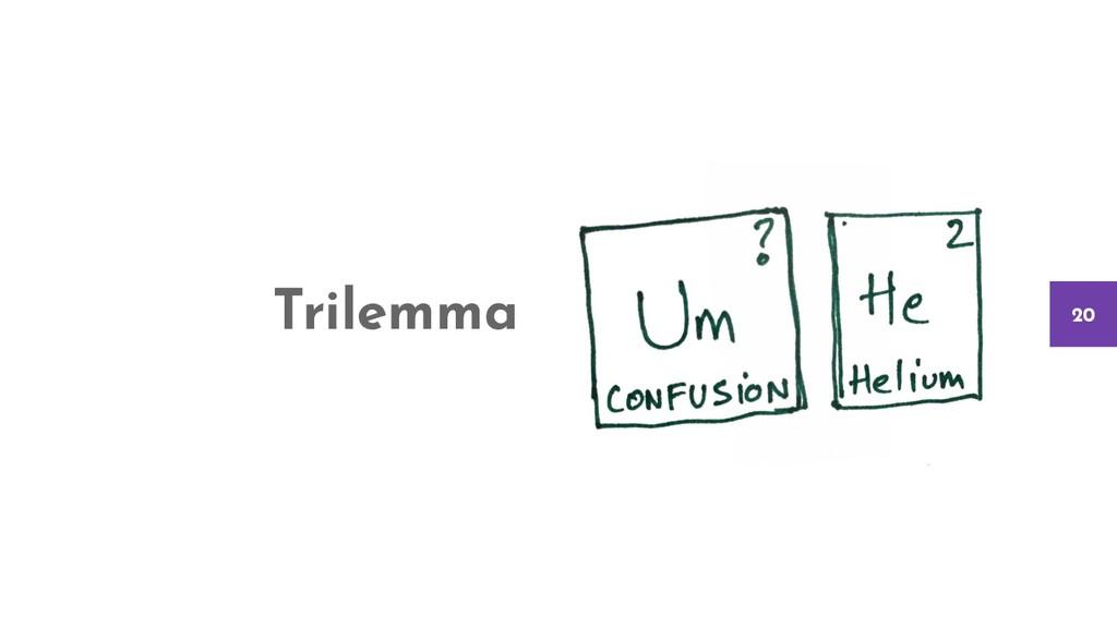Trilemma 20