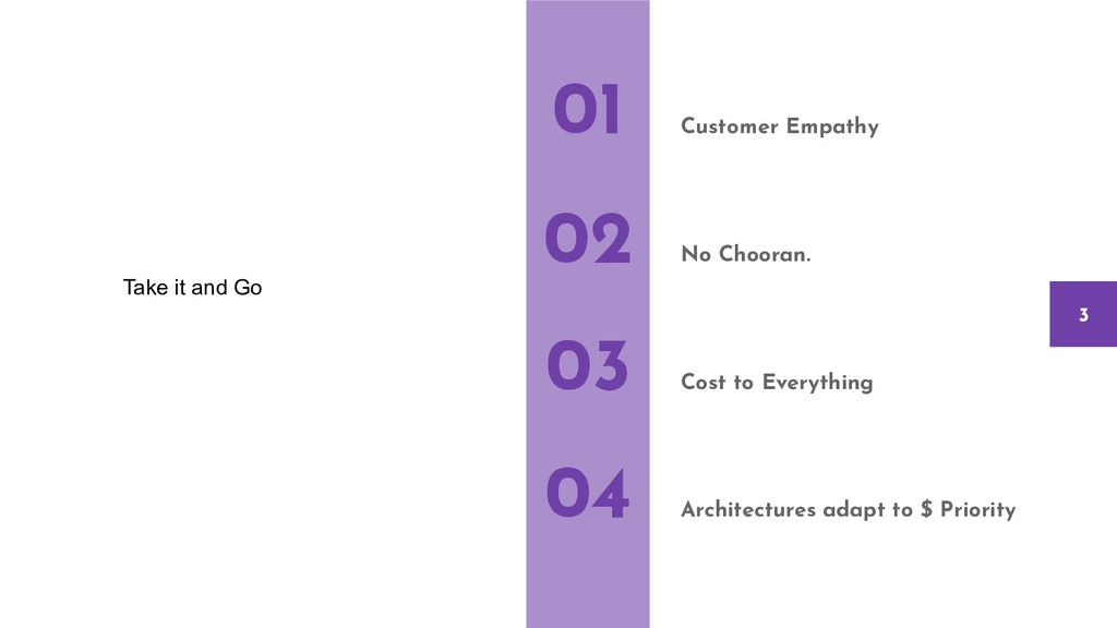 Customer Empathy No Chooran. Cost to Everything...