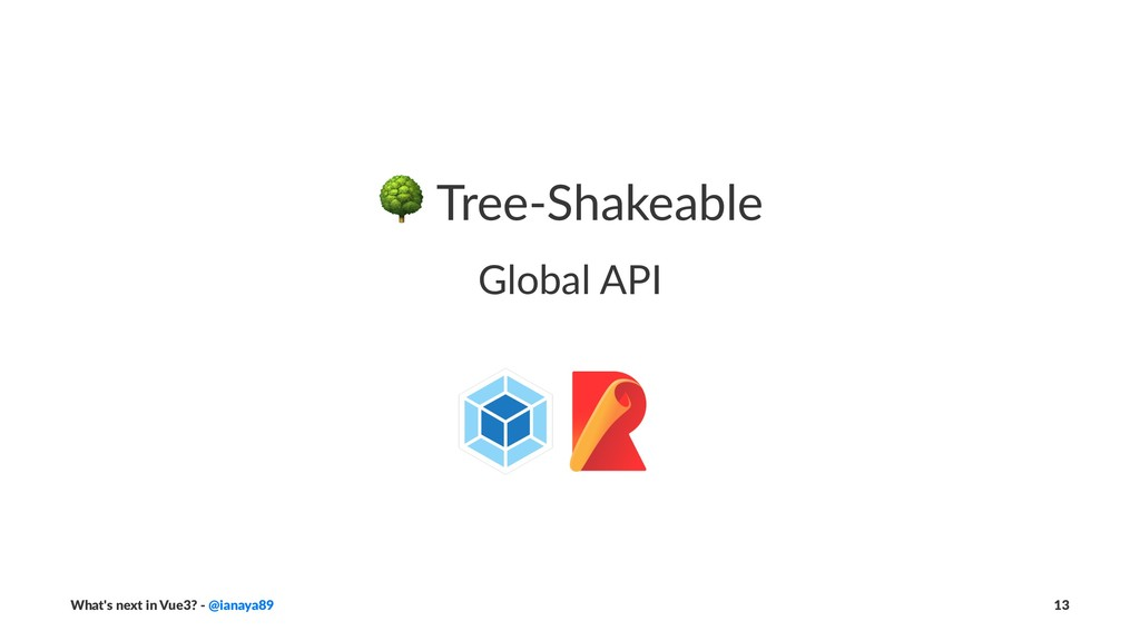 ! Tree-Shakeable Global API What's next in Vue3...