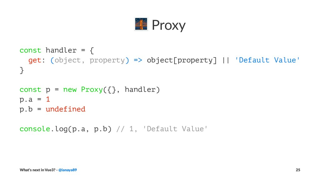 ! Proxy const handler = { get: (object, propert...