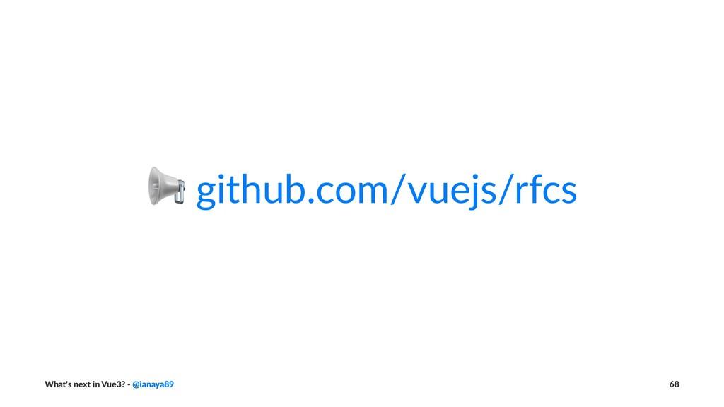 ! github.com/vuejs/rfcs What's next in Vue3? - ...