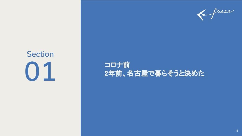 01 コロナ前 2年前、名古屋で暮らそうと決めた 4 Section