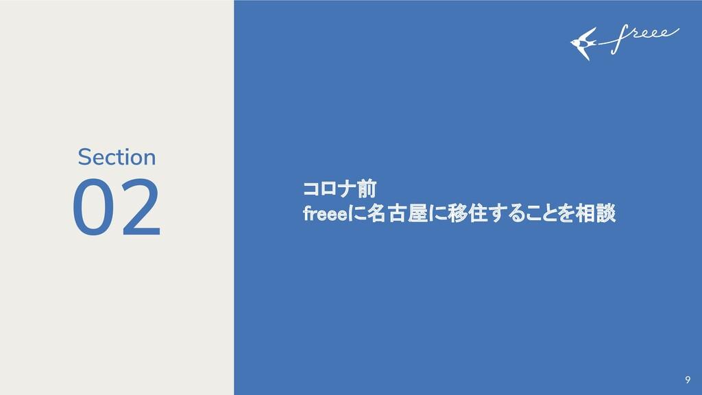 02 コロナ前 freeeに名古屋に移住することを相談 9 Section