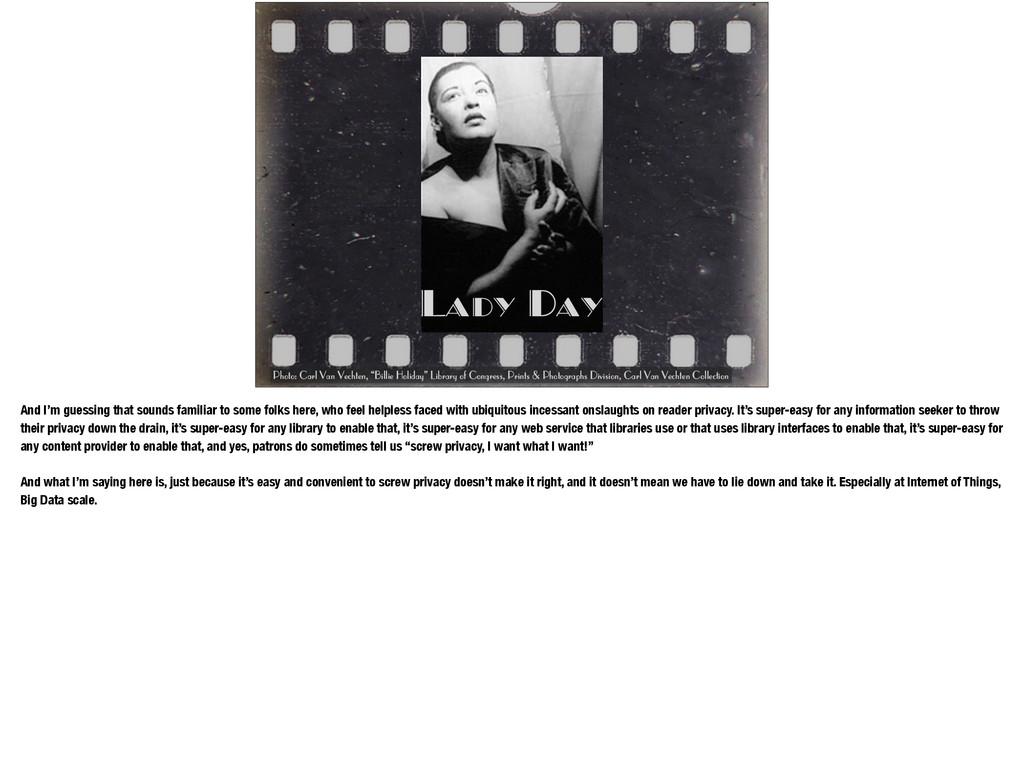 "Lady Day Photo: Carl Van Vechten, ""Billie Holid..."