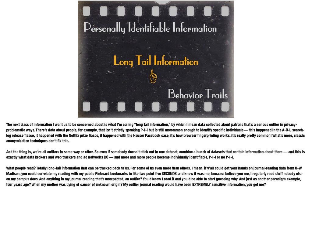 Personally Identifiable Information Behavior Tr...
