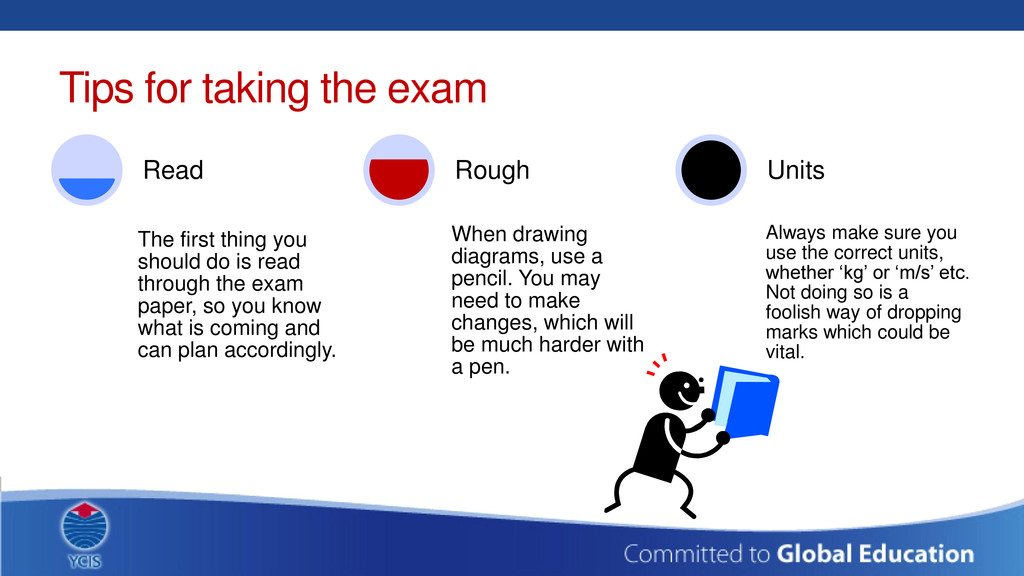 Tips for taking the exam The first thing you sh...