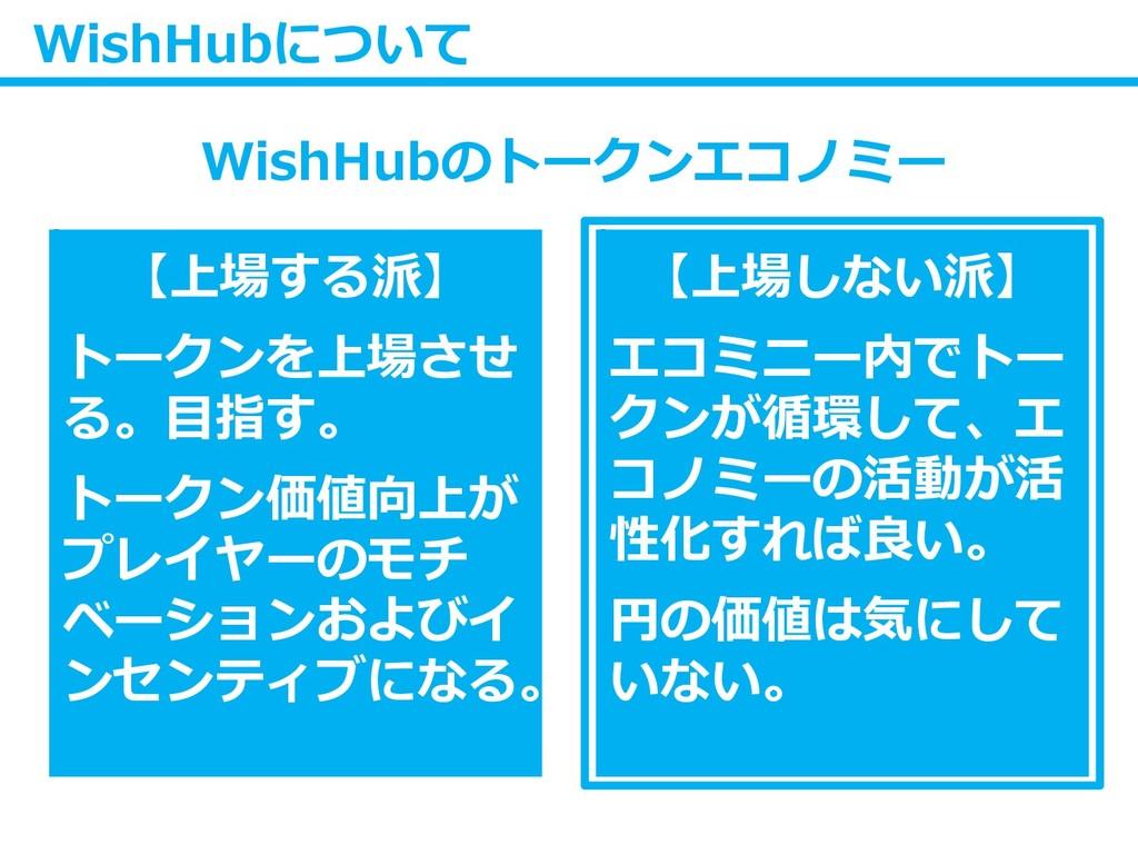WishHubについて WishHubのトークンエコノミー 【上場する派】 トークンを上場させ...