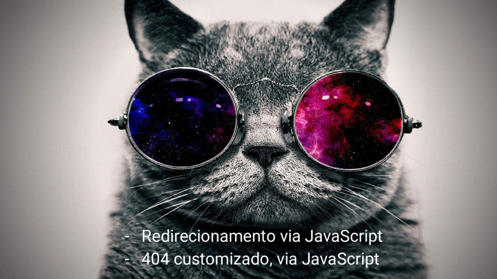 - Redirecionamento via JavaScript - 404 customi...