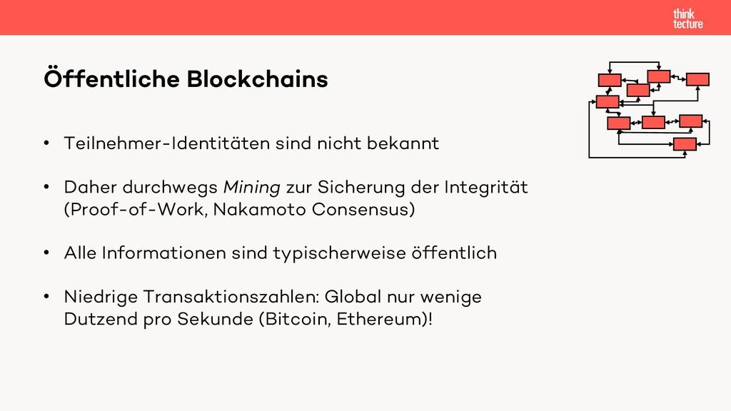 Öffentliche Blockchains • Teilnehmer-Identitäte...