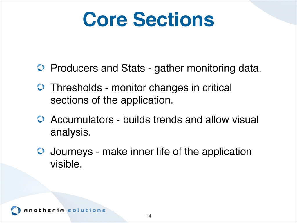 Core Sections Producers and Stats - gather moni...