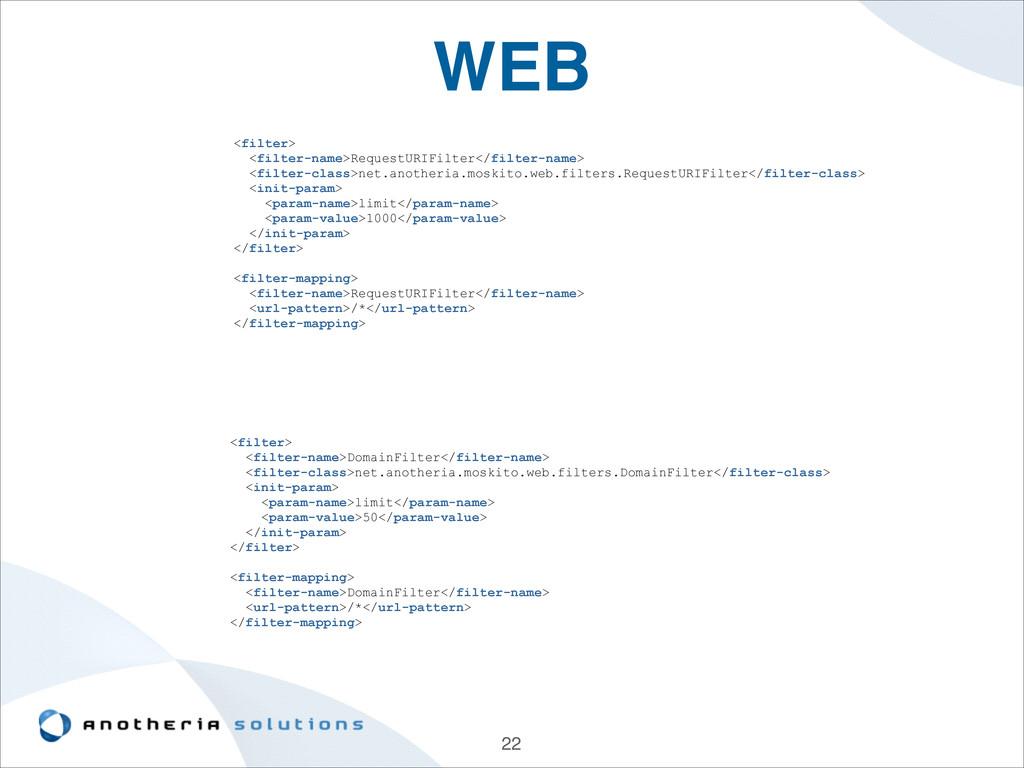 WEB 22 <filter> <filter-name>RequestURIFilter</...