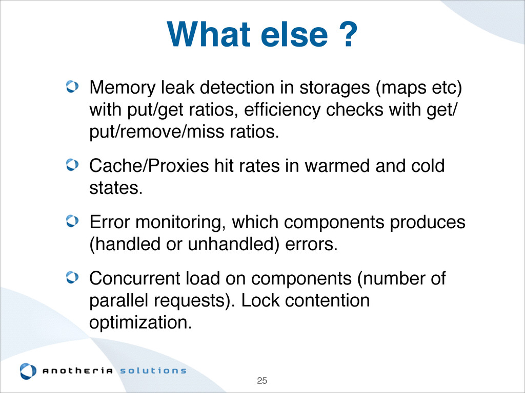 What else ? Memory leak detection in storages (...